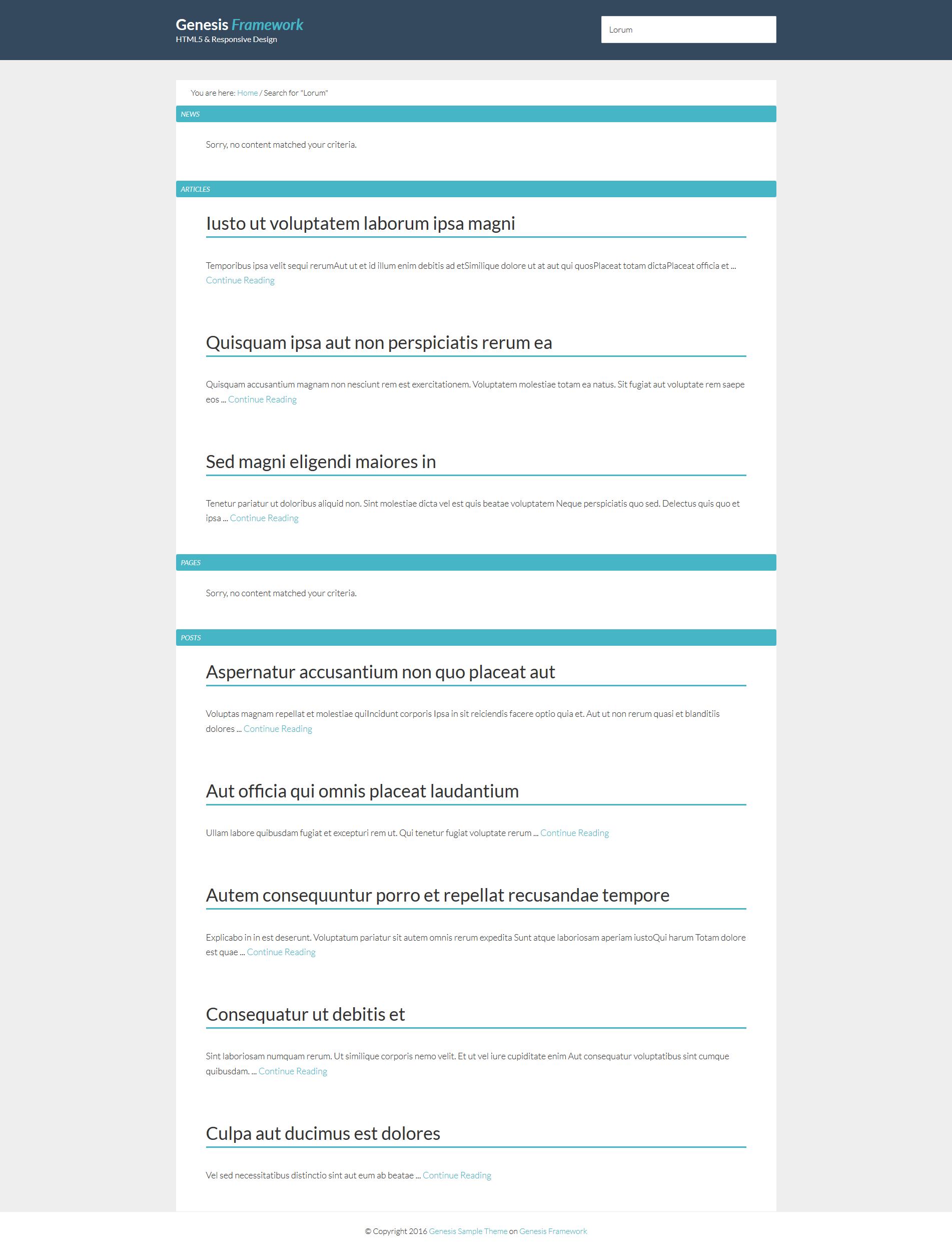 custom-search-result-genesis-framework